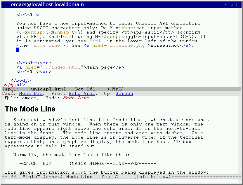 UnicAPL - Unicode APL in Emacs and LaTeX